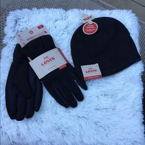 🎈Men's Levi gloves and beanie